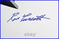 Ron Turcotte 1973 Belmont Stakes Secretariat Signed 16x20 B&W Photo BAS