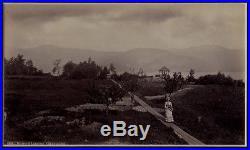 STUNNING 1880's Vintage PHOTO Adirondack Stoddard Huletts Landing Lake George NY