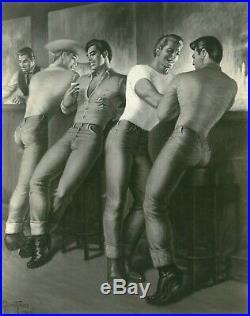 Saturday Night by George Quaintance original Photo, Vintage Male Beefcake, Rare
