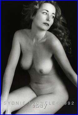 Sensuous Nude Female Photo 8x10 B&w Dkrm Print Signed Orig. 1992