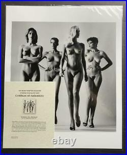 Sie Kommen, Paris, 1981 (Nude) 20x24 Vintage Silver Gelatin by Helmut Newton