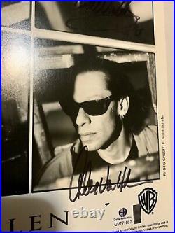 Signed Eddie Van Halen 8x10 B&W Promotional Photo Autographed Vintage 95 COA LOA
