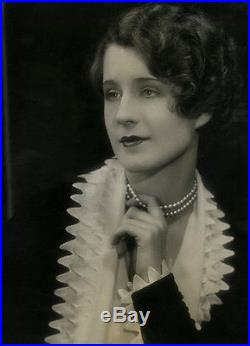 Sophisticated Beauty Norma Shearer Vintage'29 Large Art Deco Glamour Photograph