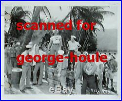 South Pacific Bare Chested Men -8x10- 4x5 Photos Vtg -1958- Behind Camera