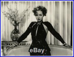 Stunning Otto Dyar Fine Art Deco'35 Lrg Glamour Photograph Vintage Peggy Fears