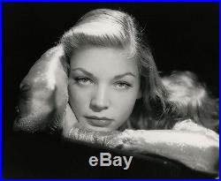 Stunning Vintage Oversized Lauren Bacall John Engstead Sultry Glamour Photograph