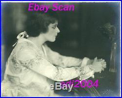 THEDA BARA Vintage Original DBLE WT Photo HOOVER ART Embossed Stamp RARE