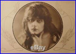 THEDA BARA Vintage Silent Film Star VAMP Oval Portrait ORIGINAL MOVIE PHOTO