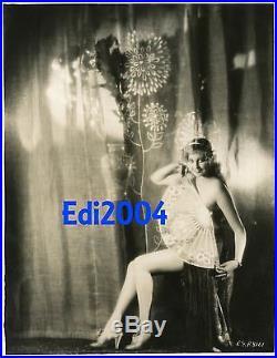 THELMA TODD Vintage Original Dbl-Wgt HOMMEL Photo 1927 Fan Risque Sexy Pre-Code