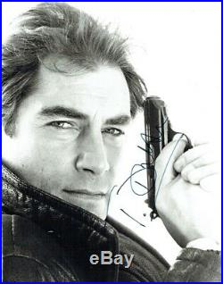 TIMOTHY DALTON Signed Vintage B/W photograph as James Bond 007