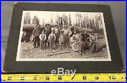 The Most Amazing Antique/VTG Old West Logging Photo I've Ever Seen Circa 1899