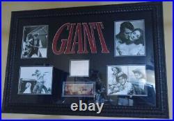 The Movie GIANT withAutographs by Elizabeth Taylor, Rock Hudson, James Dean