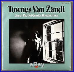 Townes Van Zandt Album Cover Portrait Photo / 8X10 B&W Vintage Print / Signed
