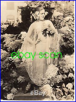 VALESKA SURATT Vintage Original Photo 1916 JEALOUSY Outdoor Gardenias RARE #2