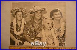 Vintage 8x10 Black & White Family Vacation Photo