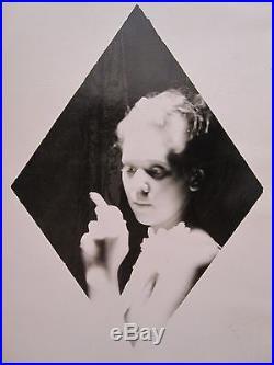 VINTAGE ANTIQUE DIAMOND GIRL ARTISTIC BLACK & WHITE 1938 FINE ART PHOTOGRAPH