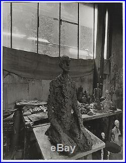 VINTAGE ICONIC Alberto Giacometti Sculpture in Studio 1966 Press Photo