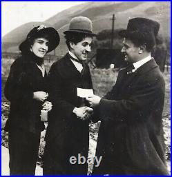 VINTAGE ORIGINAL 1920s 8x10 Photo Of Charlie Chaplin With Edna Perviance