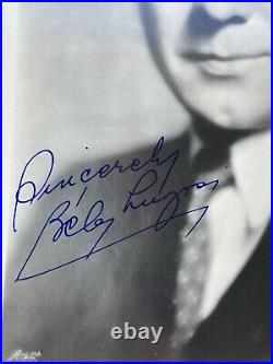 VINTAGE PHOTOGRAPH Bela Lugosi HAND SIGNED BLACK AND WHITE 8X10