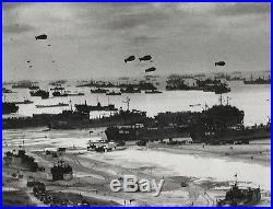Vintage Photograph Of Panorama Of D-day Beachhead