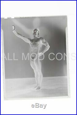 VTG 1940s LF Photo Negative 4 x 5 Gay Interest Posing Strap Pat Burnham 07-08