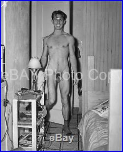 VTG 1942 LF PHOTO NEGATIVE 4 x 5 PHYSIQUE GAY INTEREST NUDE CASUAL LA 27-1