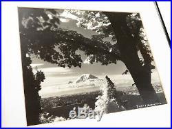 VTG Signed ORIGINAL JOSEF SCAYLEA PHOTOGRAPH Mt Rainier PNW NATURE ART Seattle