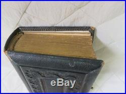 Victorian Postcard Album Portrait Photographs Vintage Leather Bound Book