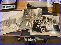 Vintage 1900s EARLY race car photo album automobile photography huge collection