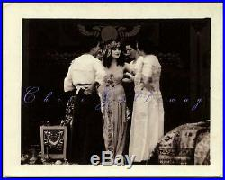 Vintage 1917 Rare Unseen Theda Bara Cleopatra Behind The Scenes Photo Beautiful
