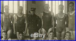 Vintage 1918 BIG Bulge Great Lakes Navy Swim Instuctor 7x11 Photo Gay 12787