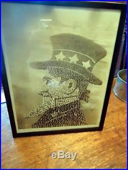 Vintage 1919 Mole & Thomas Gelatin Photograph The Living Uncle Sam
