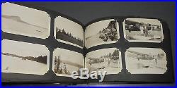 Vintage 1920-1930's Photo Album Niagara Falls Cars Flappers Worlds Fair Plane