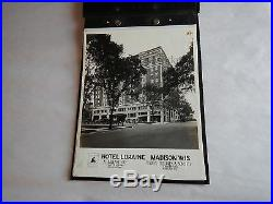 Vintage 1920's Hotel Loraine Madison Wisconsin architect builders photo album