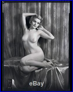 Vintage 1930s Edwin Bower Hesser Rare Erotic Nude Artist's Model Camera Negative