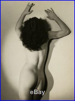 Vintage 1930s Sensual Fine Art Deco Nude Figure Study Pictorialist Photograph