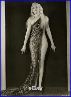 Vintage 1933 Pre-Code Chorine Rare Lorena Andrews Risqué 42nd Street Photograph