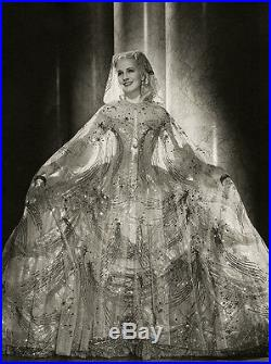 Vintage 1938 Norma Shearer Large Marie Antoinette Adrian Costume Photograph WOW