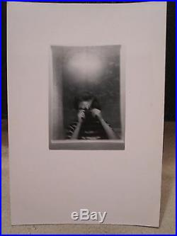Vintage 1949 MID Mod Bathroom Selfie Fine Art Vernacular Photography Film Photo