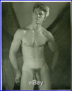 Vintage 1950s MALE NUDE PHYSIQUE BODYBUILDER 8 X 10 PHOTO #8 WELL ENDOWED SAILOR