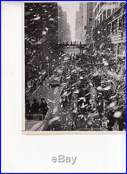 Vintage 1951 Chicago photo of Gen. MaCarthurs Ticker Tape Parade