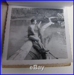 Vintage 1952 Gay Int. Bodybuilders Snapshot 10 Photo Album Muscles, Swimsuit