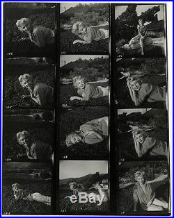 Vintage 1954 Marilyn Monroe Pin-Up Photograph Contact Sheet Baron Rare Beautiful