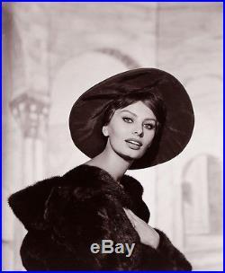 Vintage 1959 Sophia Loren Beautiful Large Wallace Seawell Fine Art Photograph NR