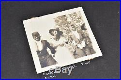 Vintage 243 BW pics photo album 1900s-20s Friends Family Racist Costumes Candids