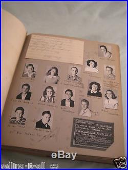 Vintage 350+ Prints Snapshots Labled Photo Album High School Scrapbook 1947-52