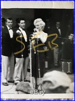 Vintage 5 Marilyn Monroe 1954 USO Tour Korean War Original Photograph Snapshots
