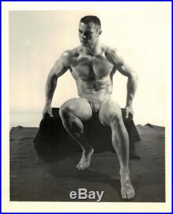 Vintage 60s 4x5 Kris Studios Mike Bradburn Beefcake Bodybuilder Semi-Nude Photo