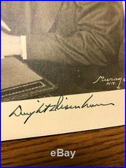 Vintage 8x10 B&W photo signed by Dwight D. Eisenhower