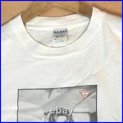 Vintage 90s Guess Ad Campaign T Shirt Large Black White Photo Larissa Bondarenko